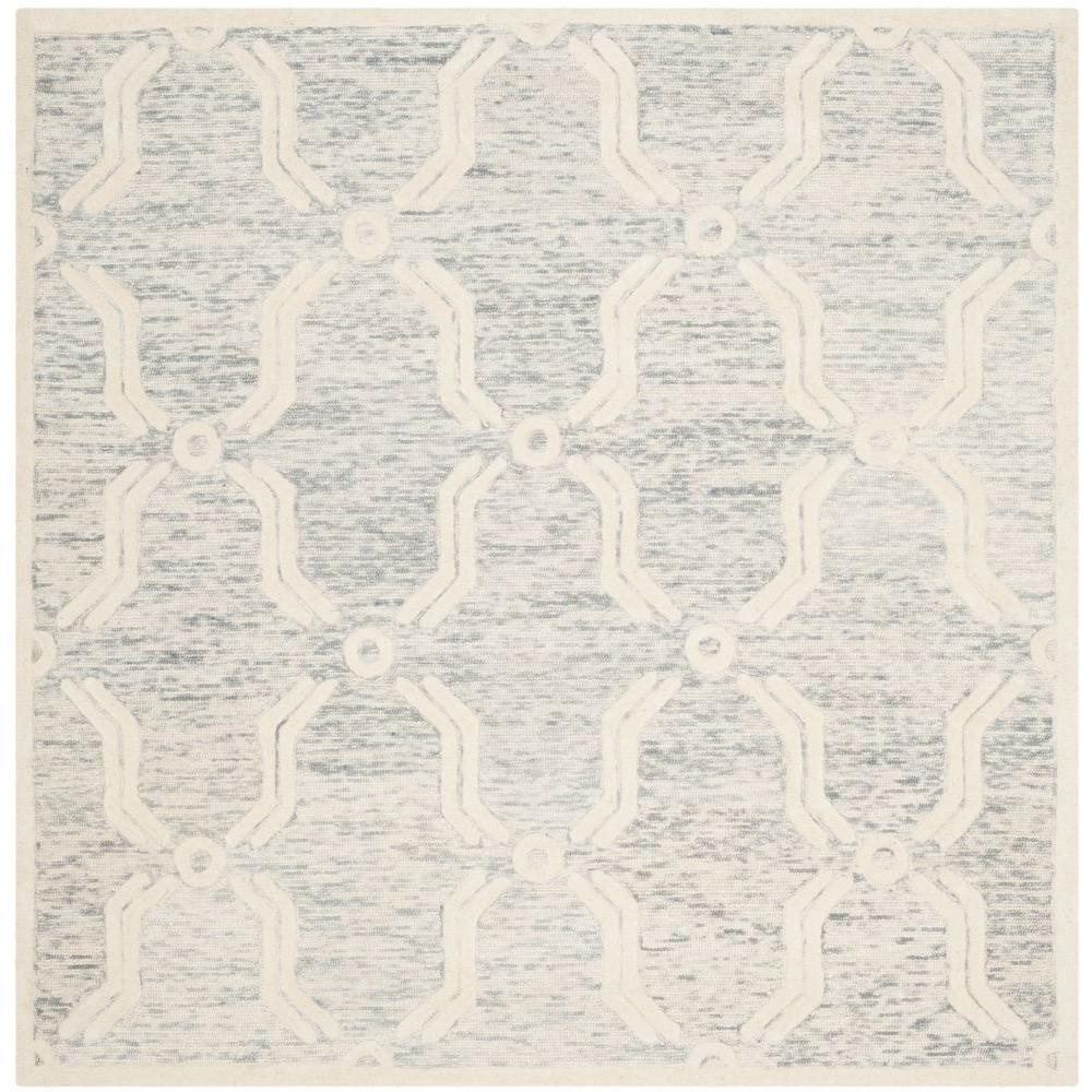 Cambridge Light Gray/Ivory 6 ft. x 6 ft. Square Area Rug