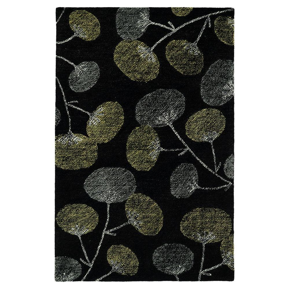 Montage Black 5 ft. x 7 ft. 9 in. Area Rug
