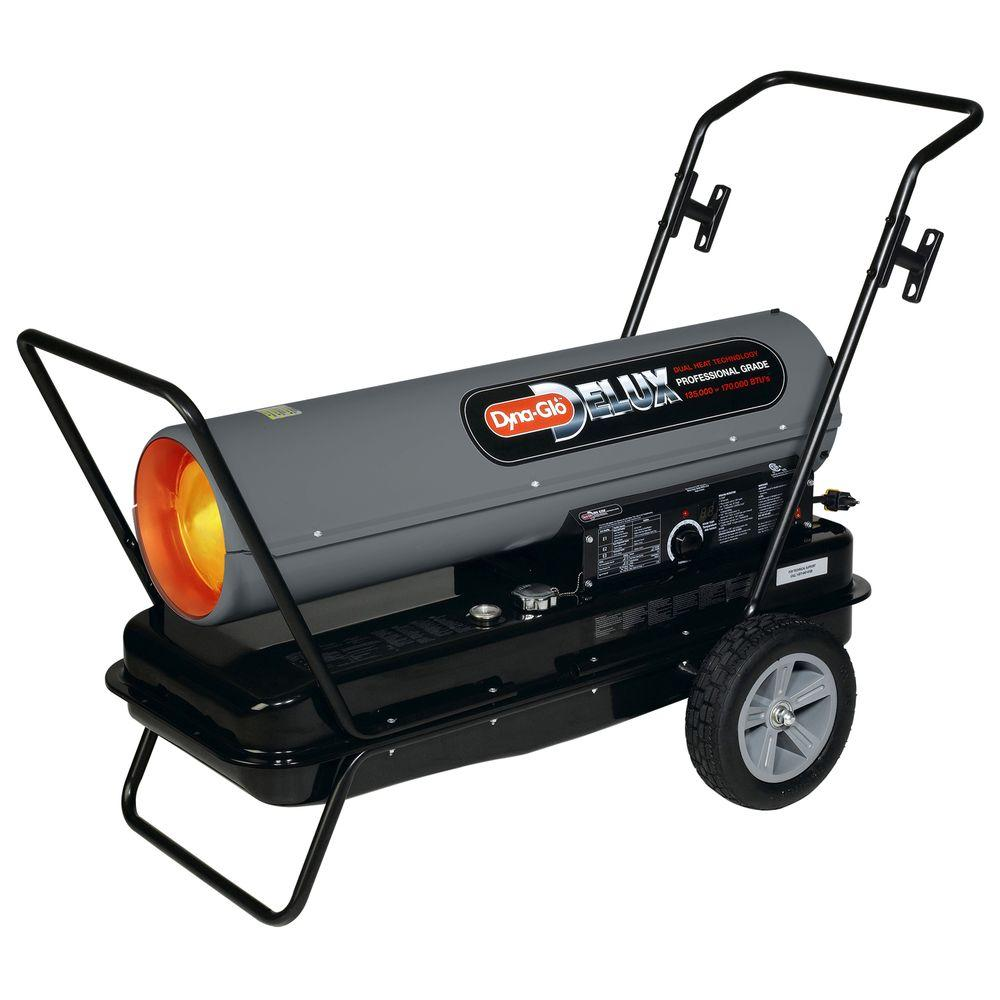 Dyna-Glo Delux 135K or 170K BTU Forced Air Kerosene Portable Heater