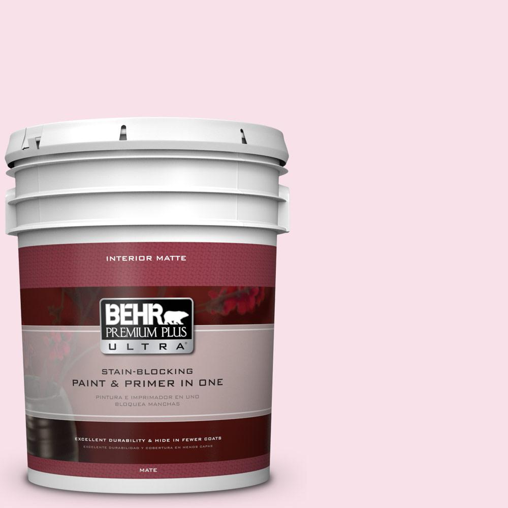 BEHR Premium Plus Ultra 5 gal. #110A-2 Poetic Princess Flat/Matte Interior