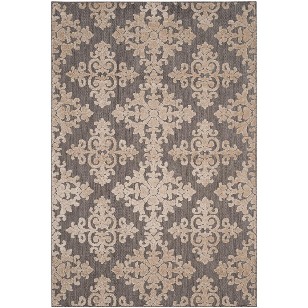 Cottage Indoor/Outdoor Taupe 4 ft. x 6 ft. Area Rug