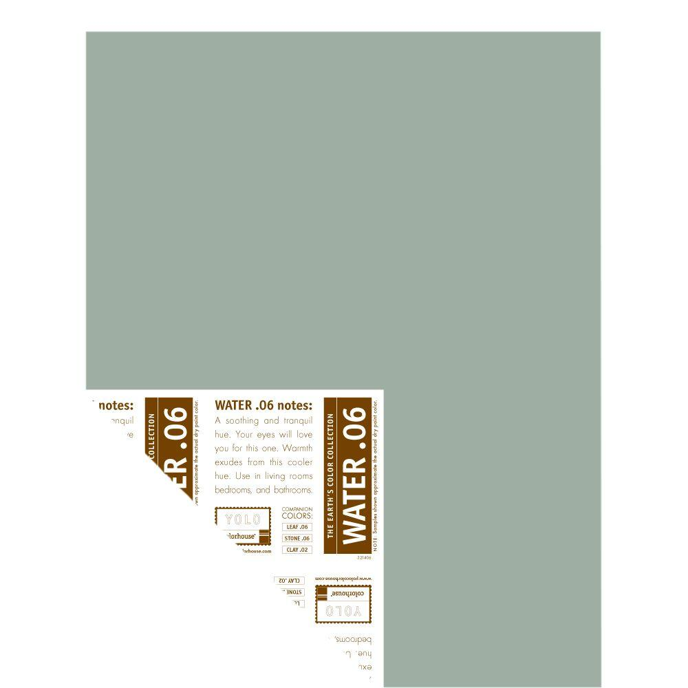 YOLO Colorhouse 12 in. x 16 in. Water .06 Pre-Painted Big Chip Sample