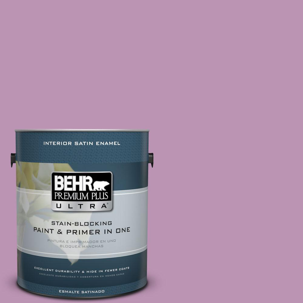 BEHR Premium Plus Ultra Home Decorators Collection 1-gal. #HDC-MD-10 Blooming Lilac Satin Enamel Interior Paint