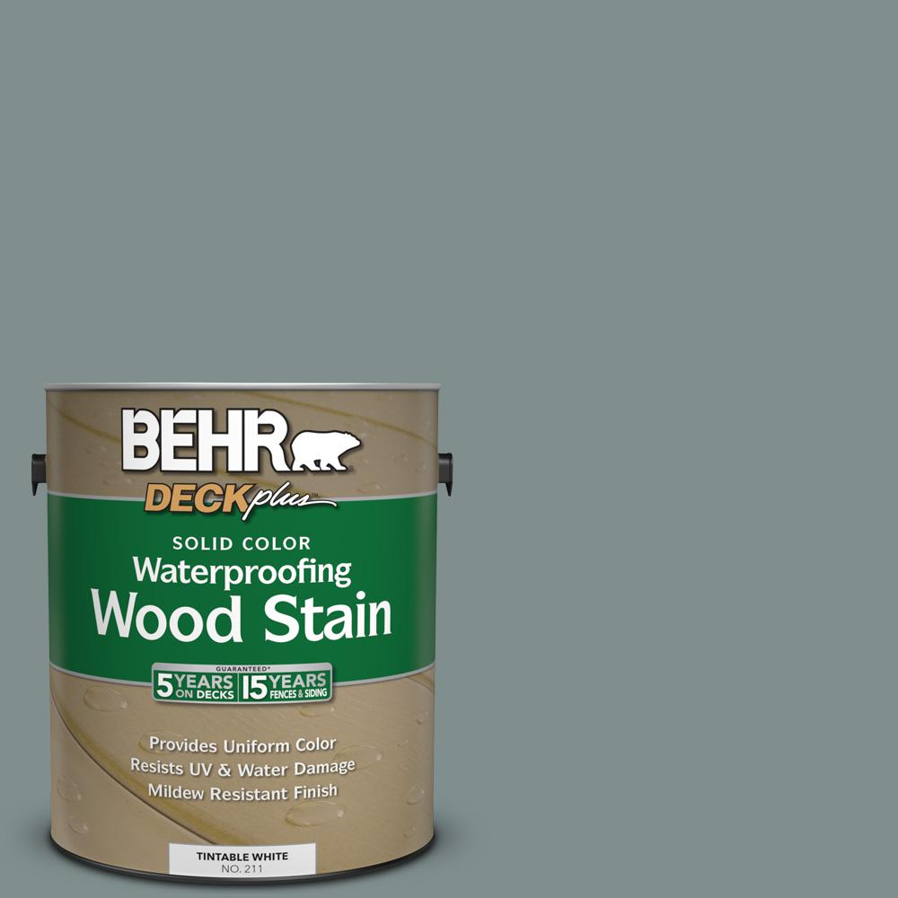 BEHR DECKPLUS 1-Gal. #SC-125 Stonehedge Solid Color Waterproofing Wood Stain