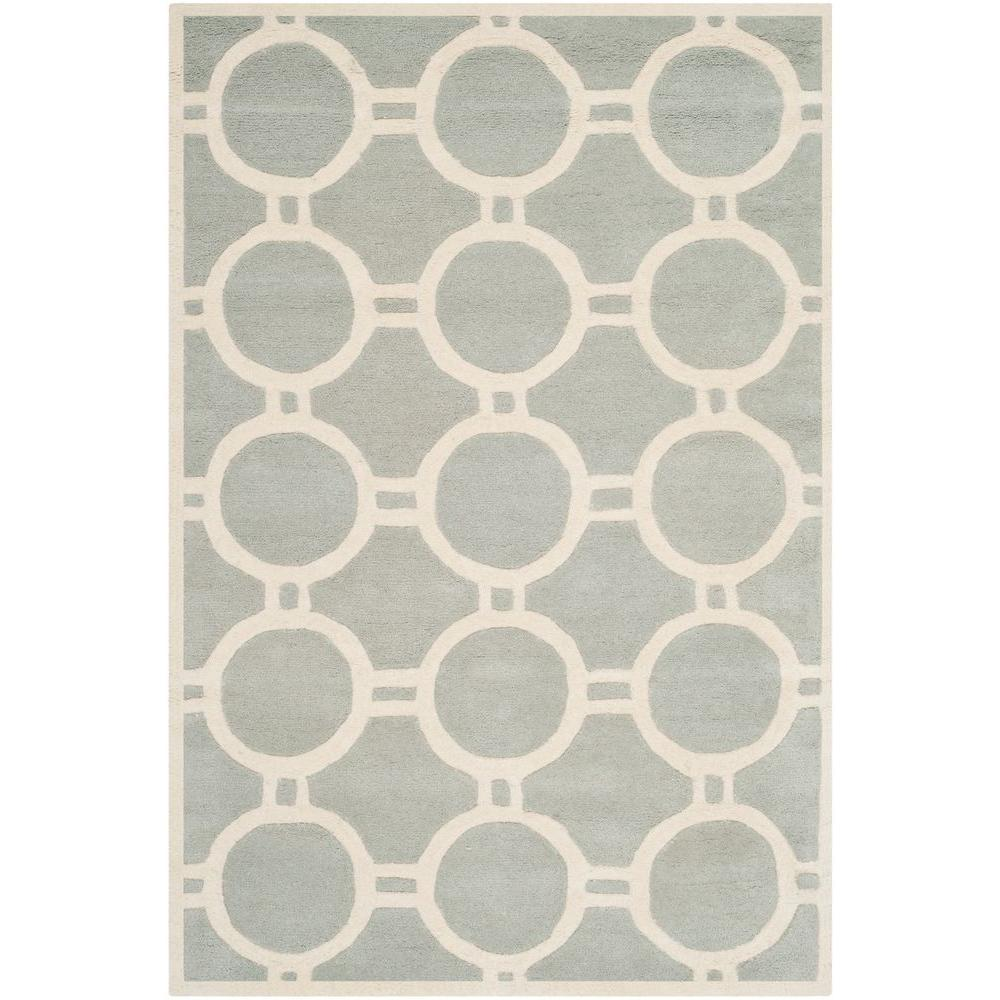 Chatham Grey/Ivory 5 ft. x 8 ft. Area Rug