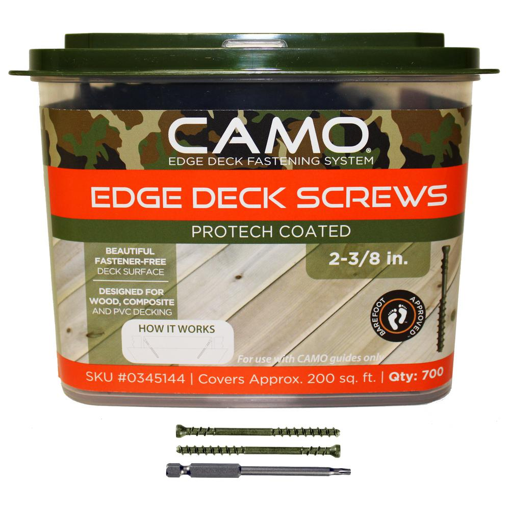 CAMO 2-3/8 in. ProTech Coated Trimhead Deck Screw (700-Count)