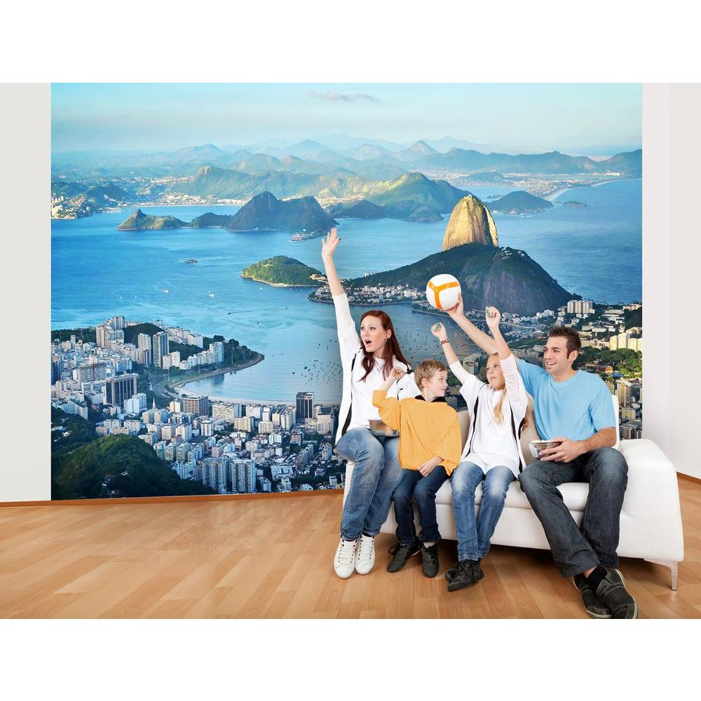 Ideal Decor 100 in. x 144 in. Rio Wall Mural-DM145 -