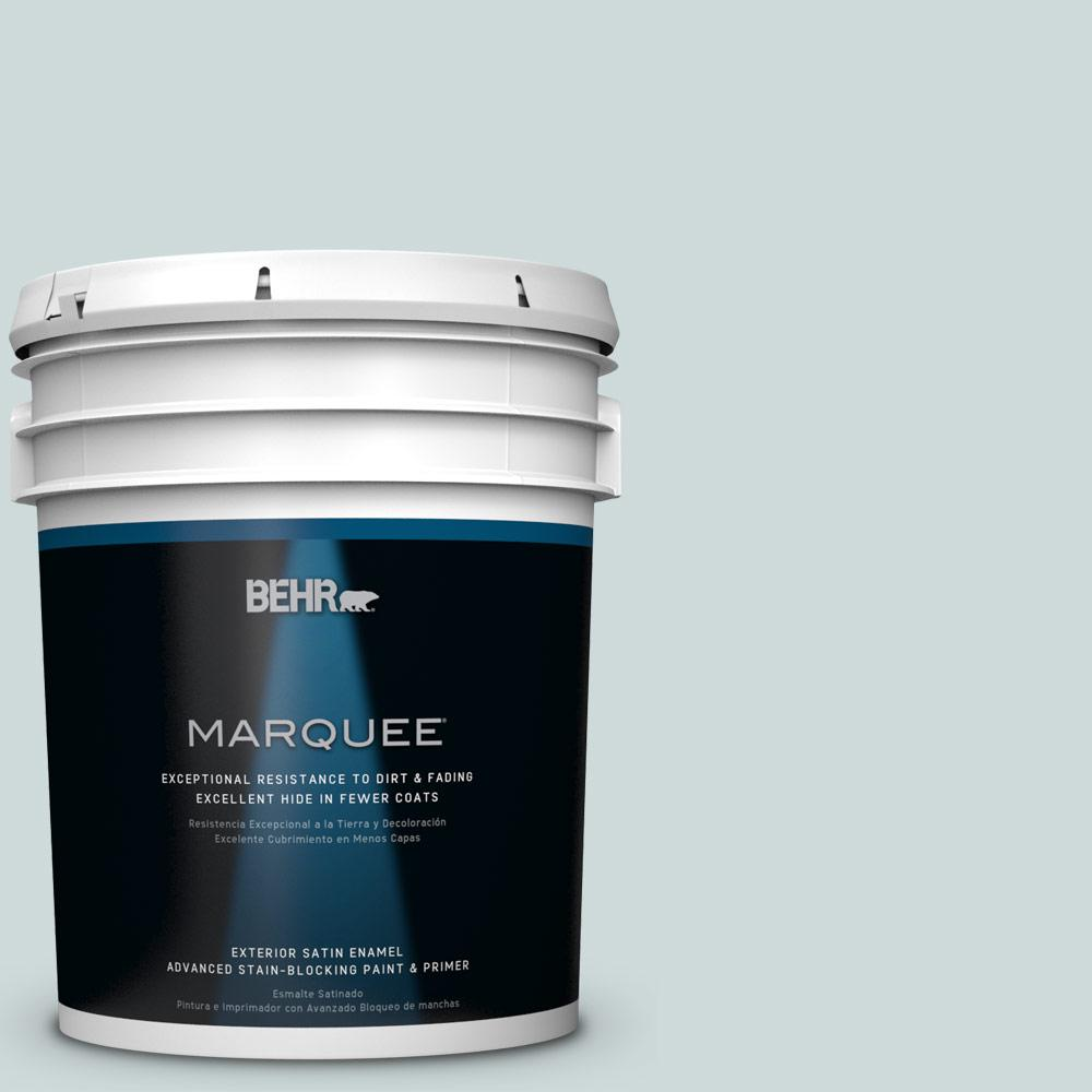 BEHR MARQUEE 5-gal. #PPL-46 Blue Cypress Satin Enamel Exterior Paint