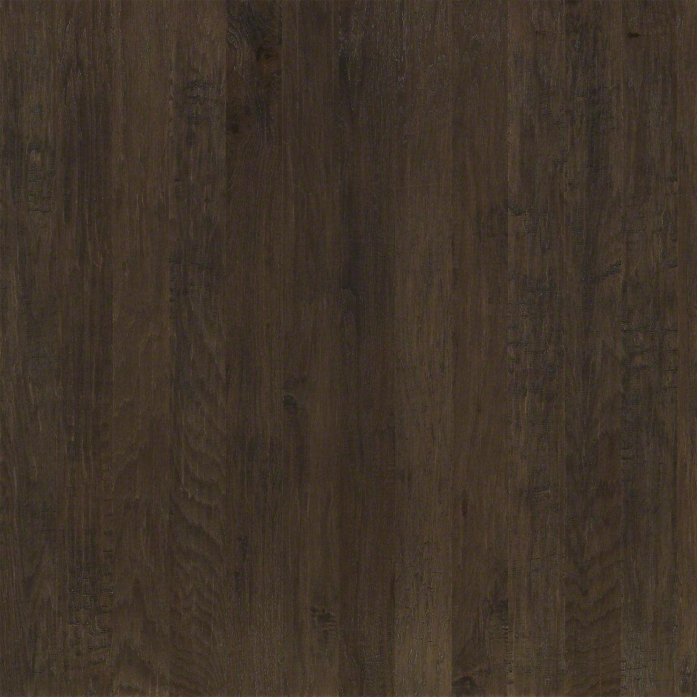 Western Hickory Winter Grey 3/8 in. T x 5 in. W x Random Length Click Engineered Hardwood Flooring (29.49 sq. ft./case)