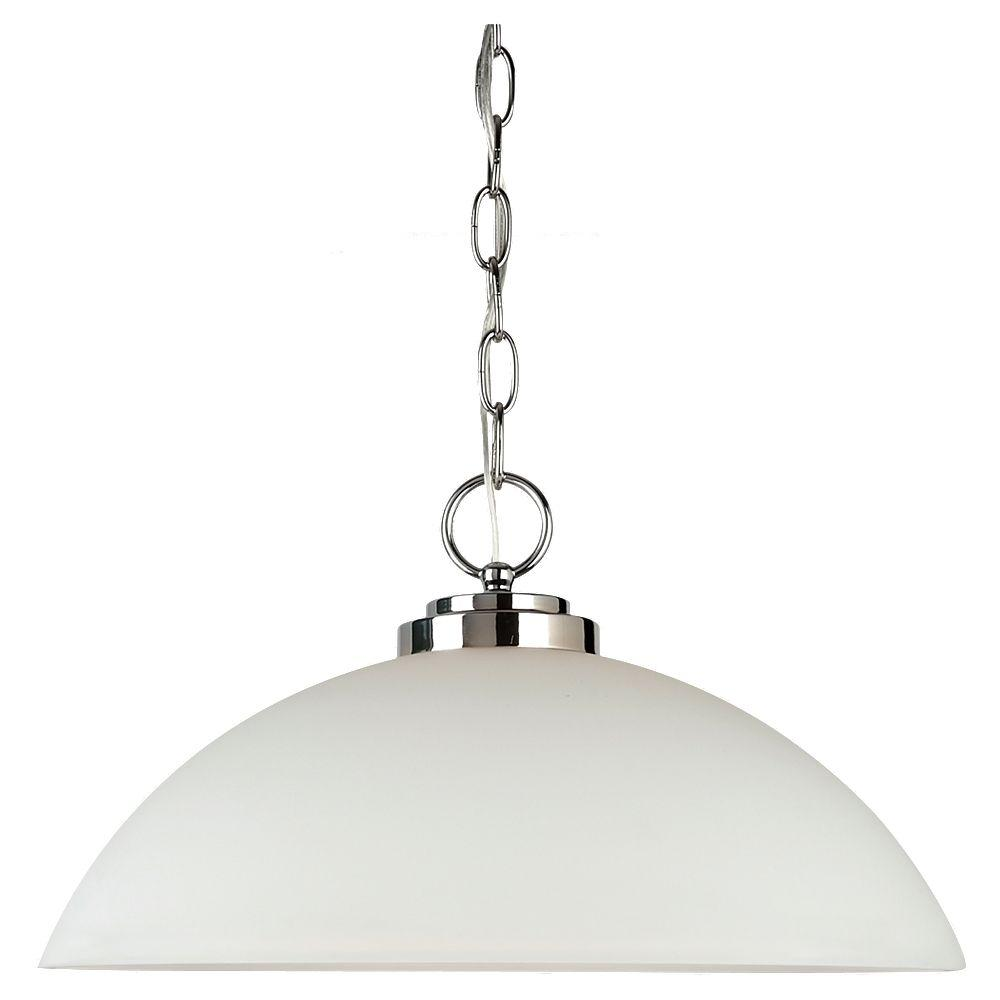 Sea Gull Lighting Oslo 1-Light Chrome Pendant-65160-05 - The Home Depot