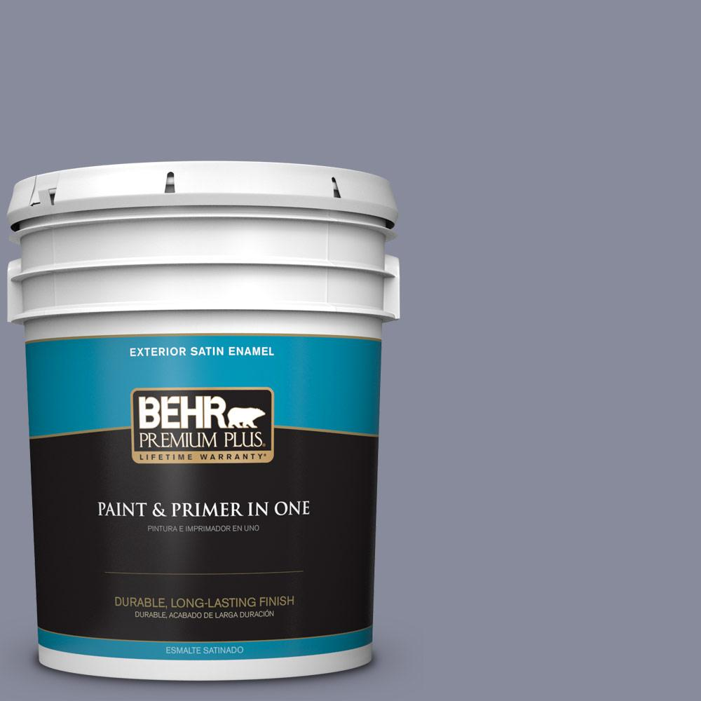 5 gal. #PPU15-08 River Tour Satin Enamel Exterior Paint