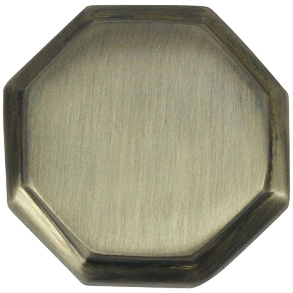 Copper Mountain Hardware 1-5/8 in. Antique Nickel Octagon Cabinet Knob