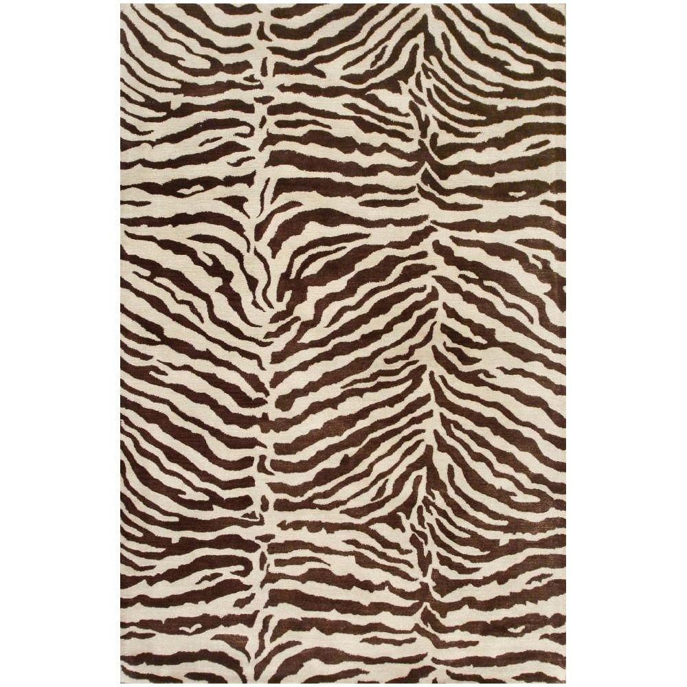 BASHIAN Greenwich Collection Safari Chocolate 8 ft. 6 in. x 11 ft. 6 in. Area Rug