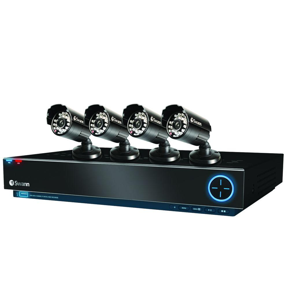 Swann TruBlue D1 3000 4 CH 500GB Hard Drive Surveillance System with (4) 600 TVL Indoor/Outdoor Cameras-DISCONTINUED
