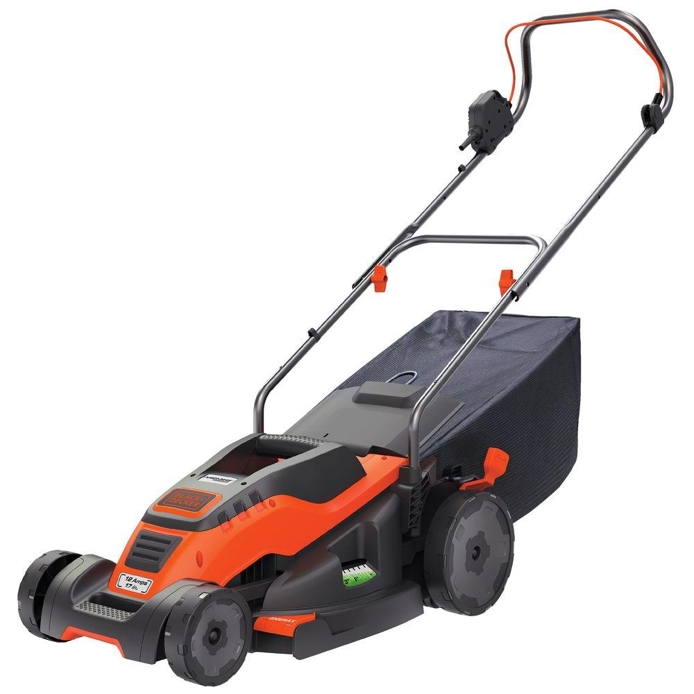 17 in. Walk Behind Corded Electric Push Mower