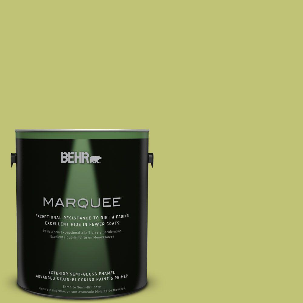 1-gal. #PPU9-7 Fresh Sprout Semi-Gloss Enamel Exterior Paint