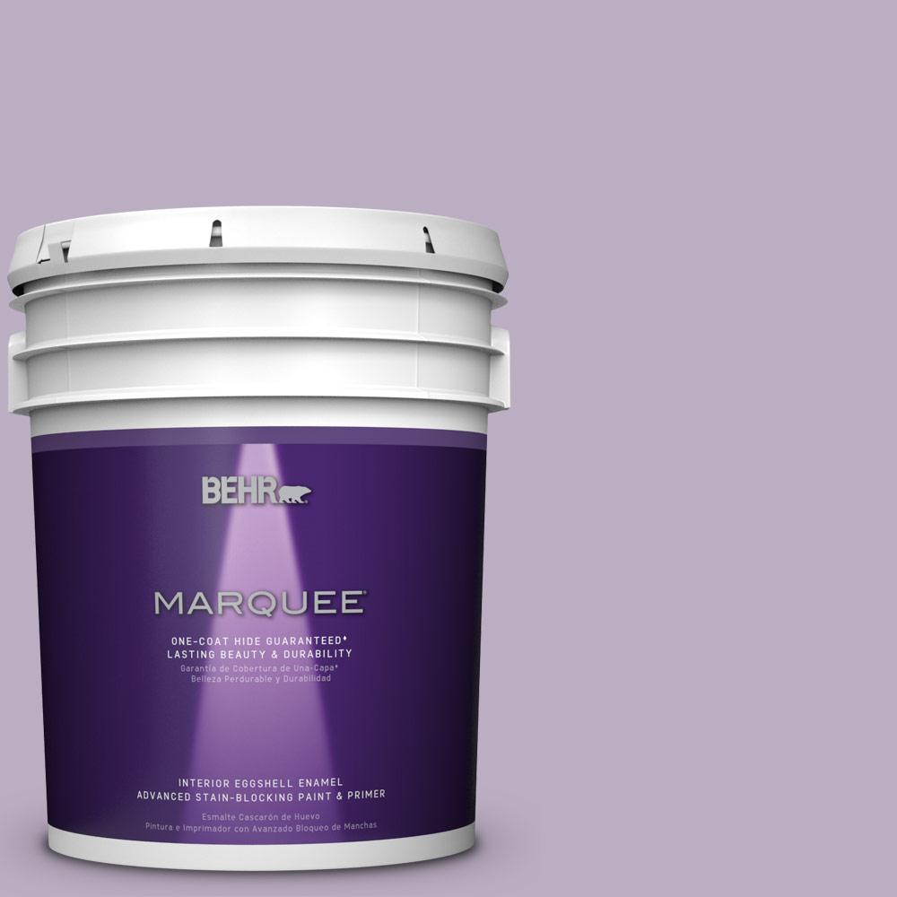 5 gal. #S100-3 Courtly Purple One-Coat Hide Eggshell Enamel Interior Paint