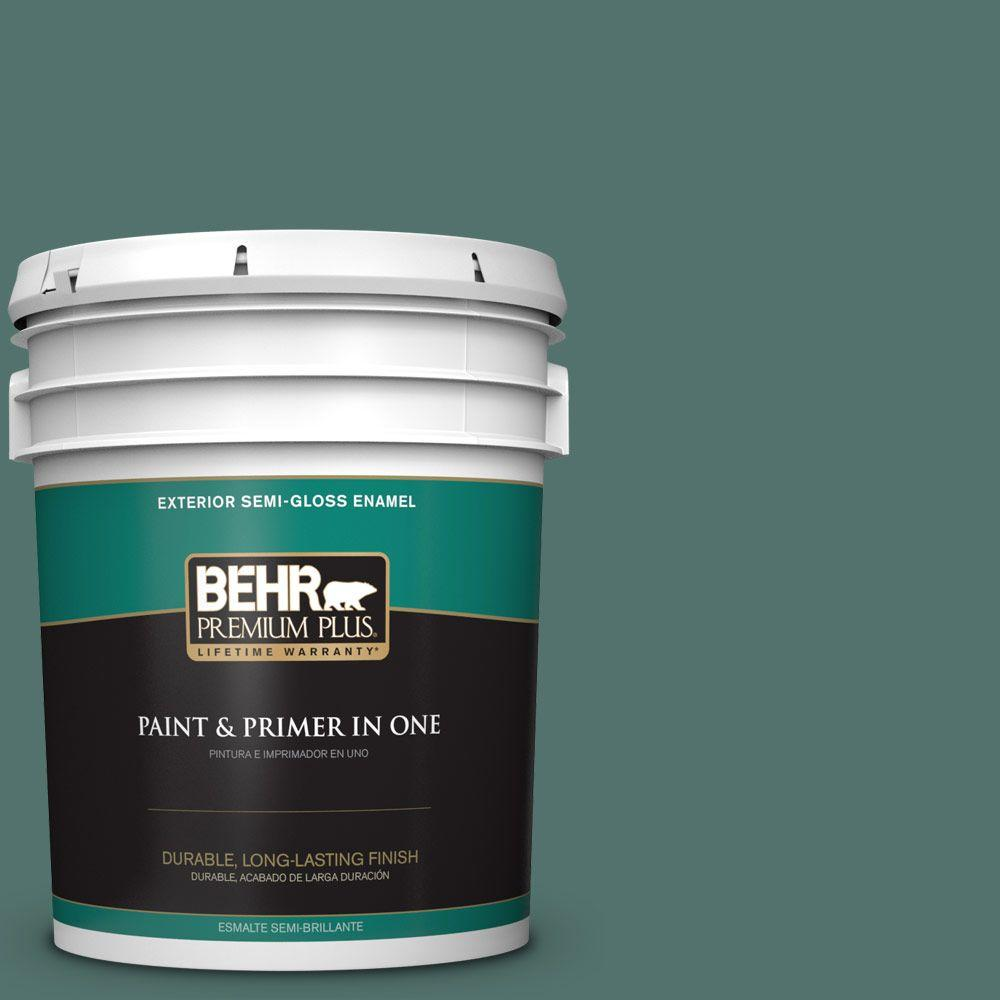 5 gal. #HDC-WR16-04 Noble Fir Semi-Gloss Enamel Exterior Paint