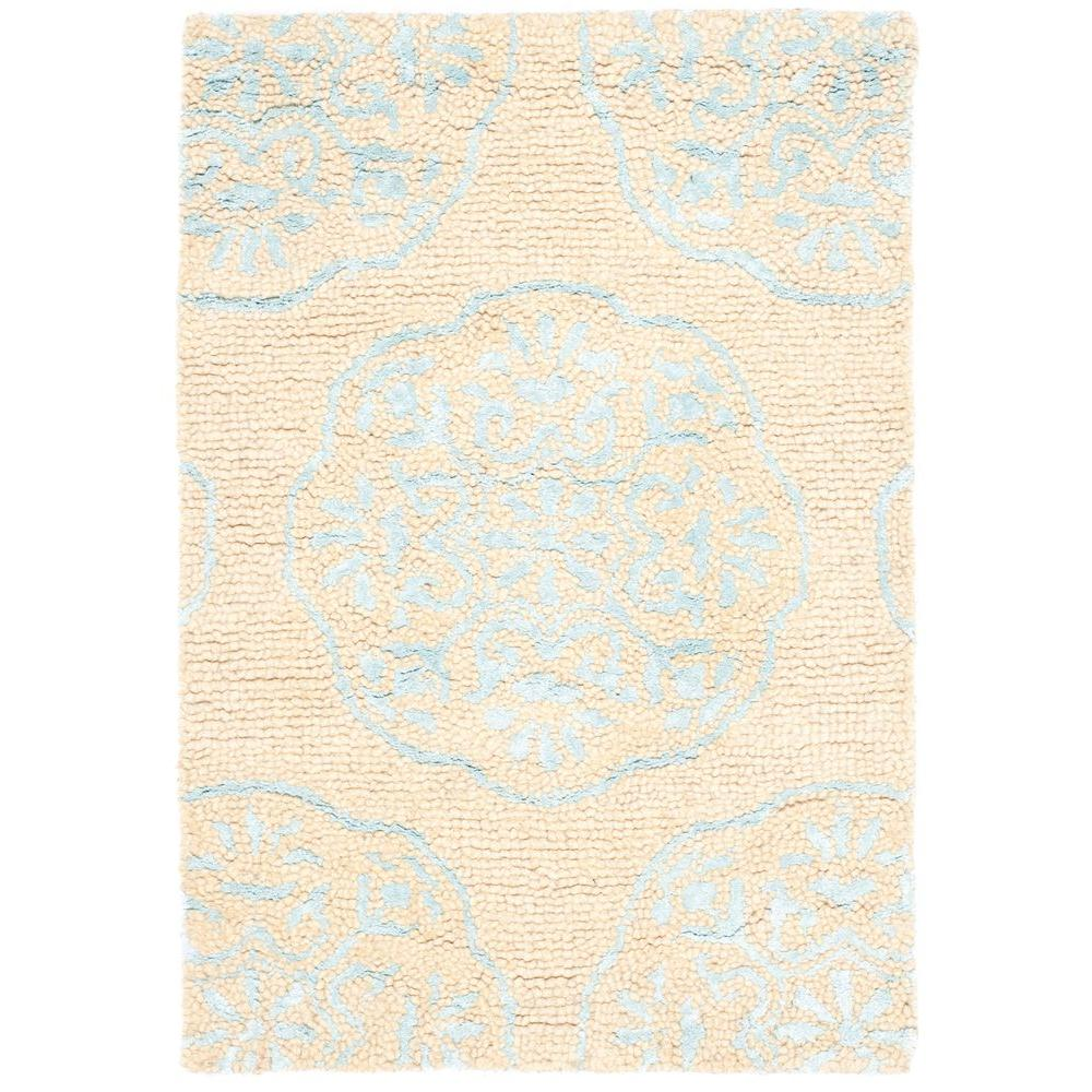 Bella Beige/Turquoise 2 ft. x 3 ft. Area Rug