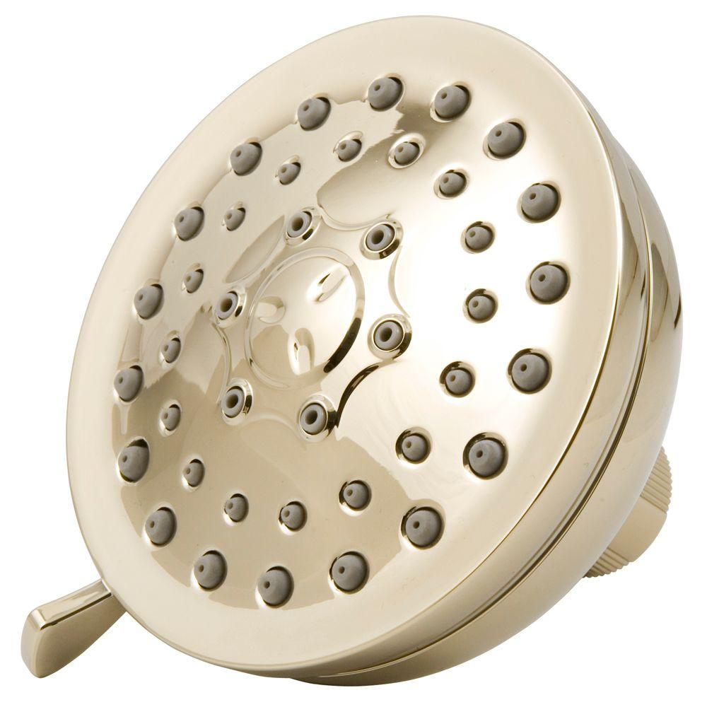 3-Spray Fixed Showerhead in Polished Brass