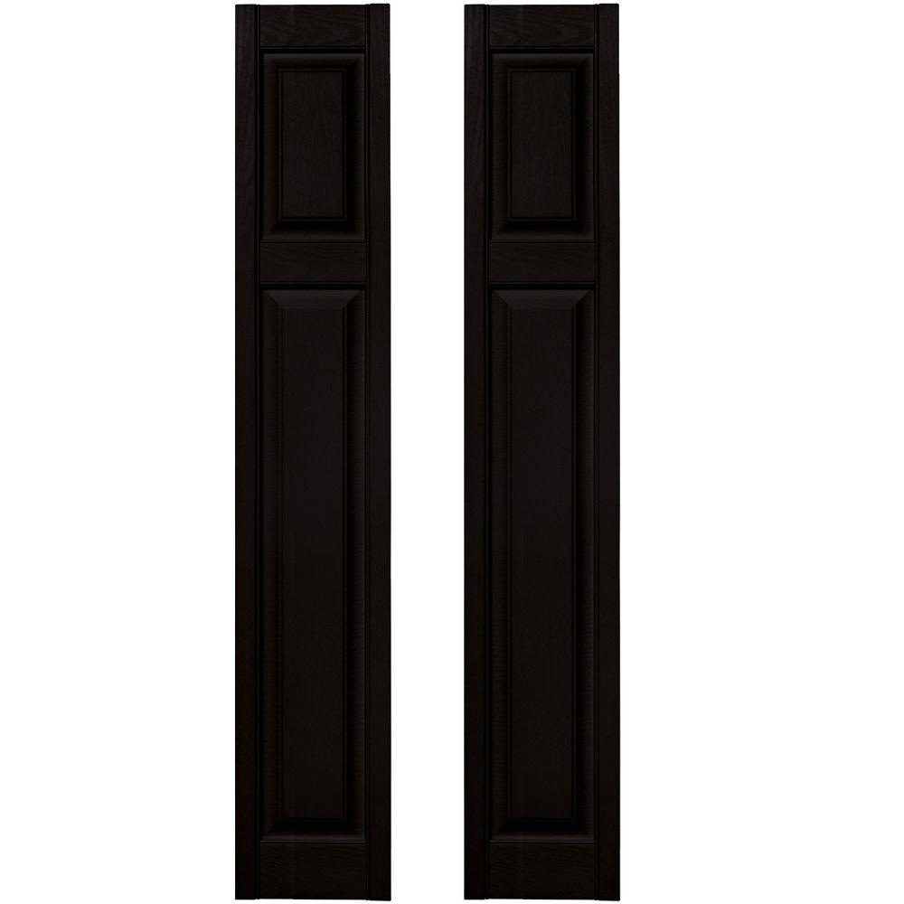 12 in. x 67 in. Cottage Style Raised-Panel Vinyl Exterior Shutters