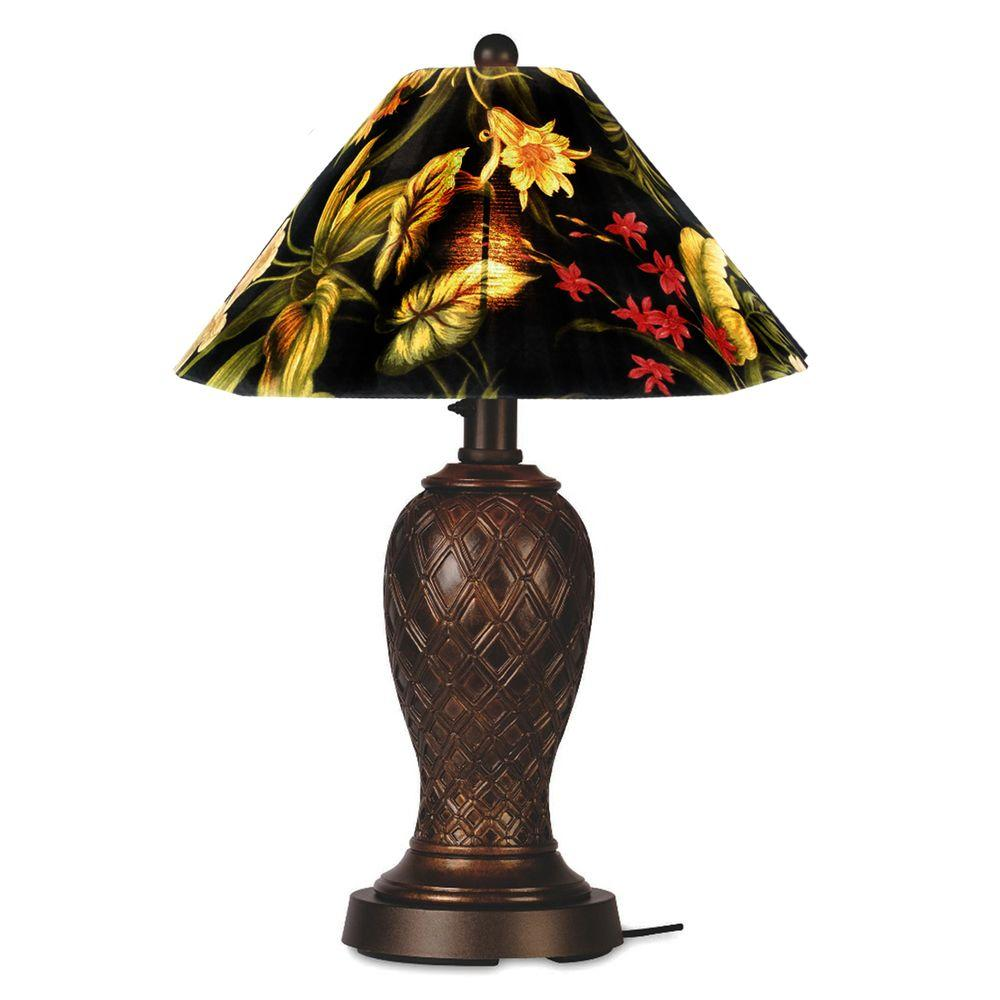 Patio Living Concepts Monterey 34 in. Table Lamp in Bronze with Ebony Shade Medium-DISCONTINUED