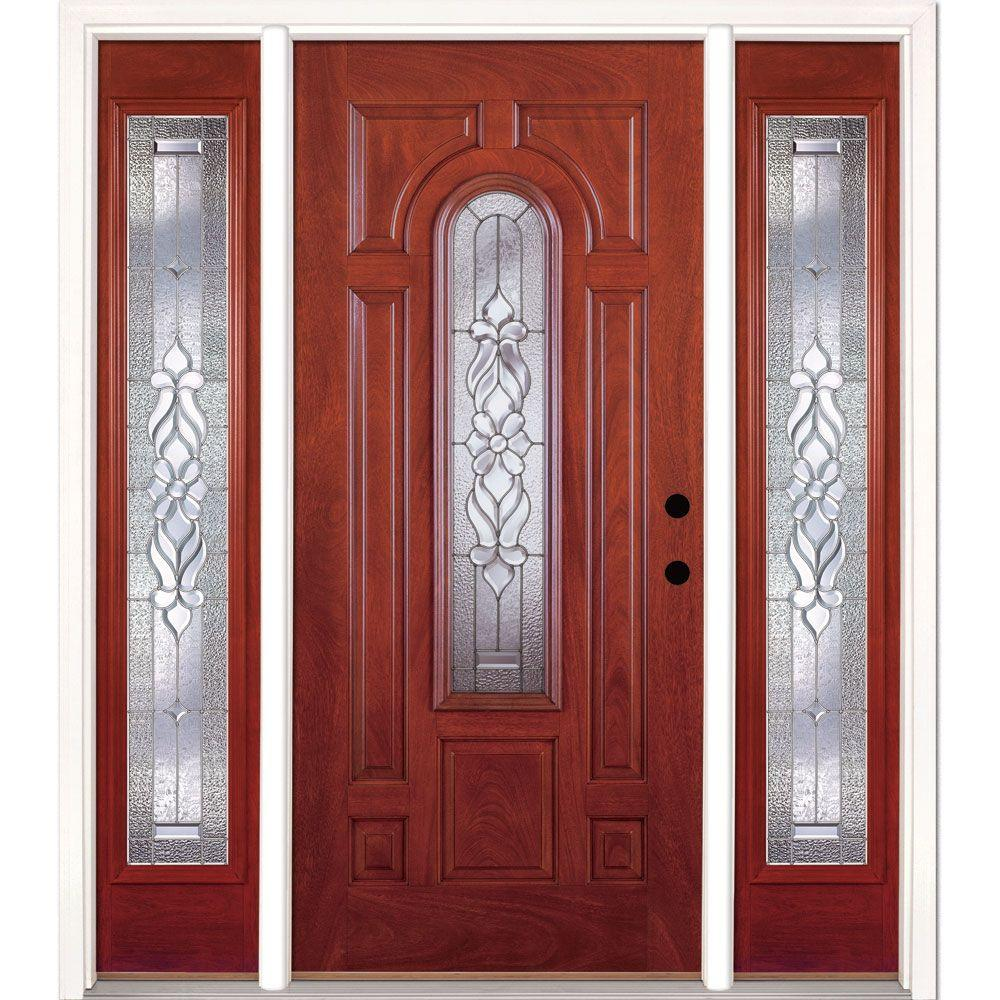 67.5 in.x81.625in.Lakewood Zinc Center Arch Lt Stained Cherry Mahogany Lt-Hd
