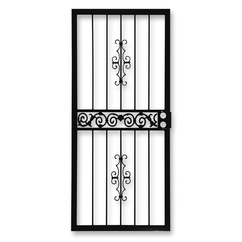 Grisham 36 in. x 80 in. 401 Series Black Mariposa Security