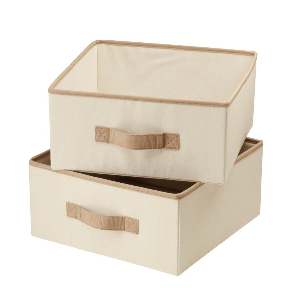 Natural Canvas Drawers for Hanging Organizer (2-Pack)