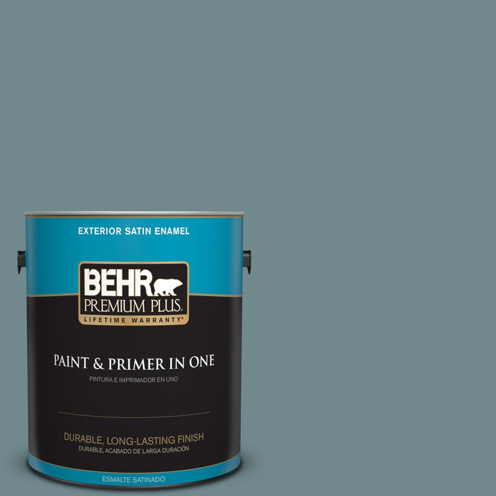 1 gal. #PPU13-06 Polaris Blue Satin Enamel Exterior Paint
