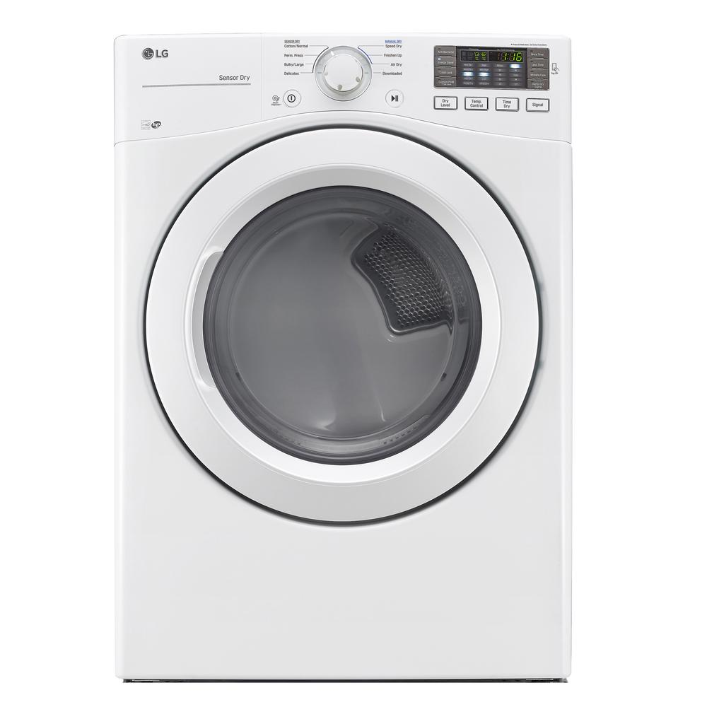 7.4 cu. ft. Front Load Electric Dryer in White, ENERGY STAR