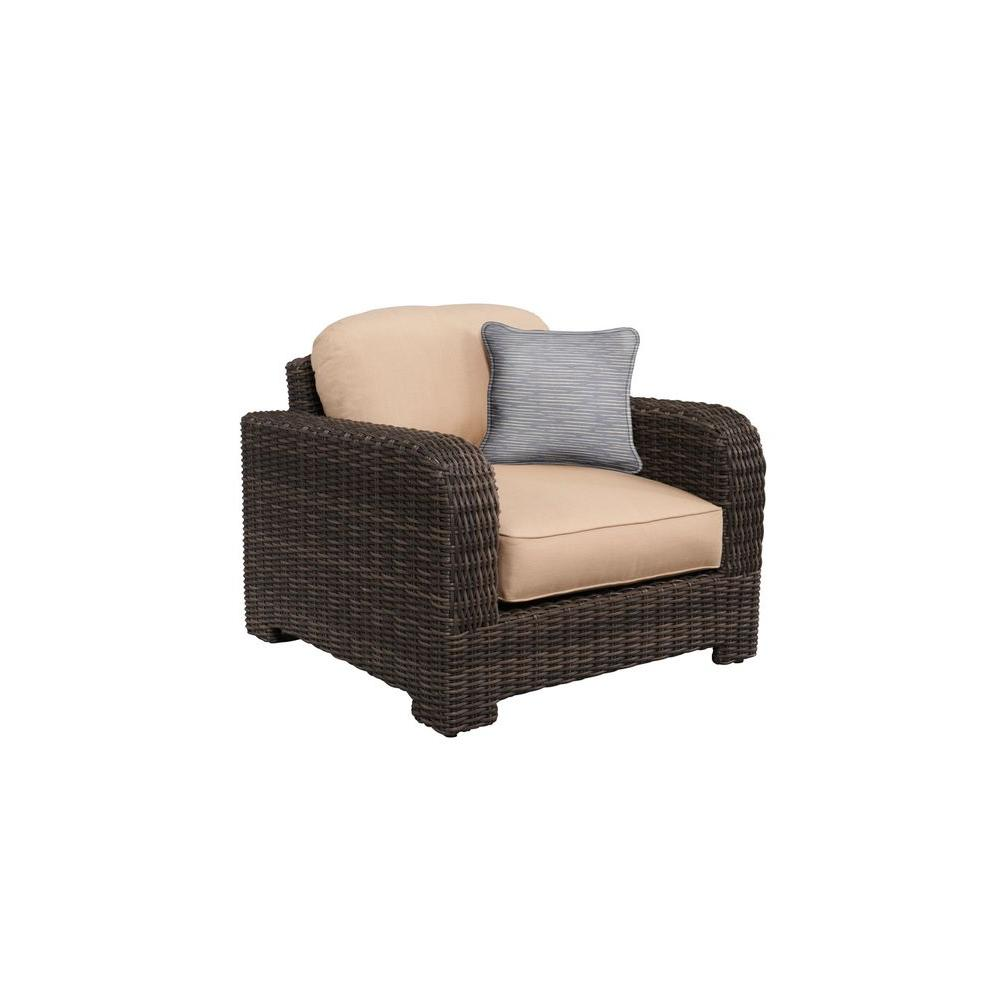 Northshore Patio Lounge Chair with Harvest Cushions and Congo Throw Pillow