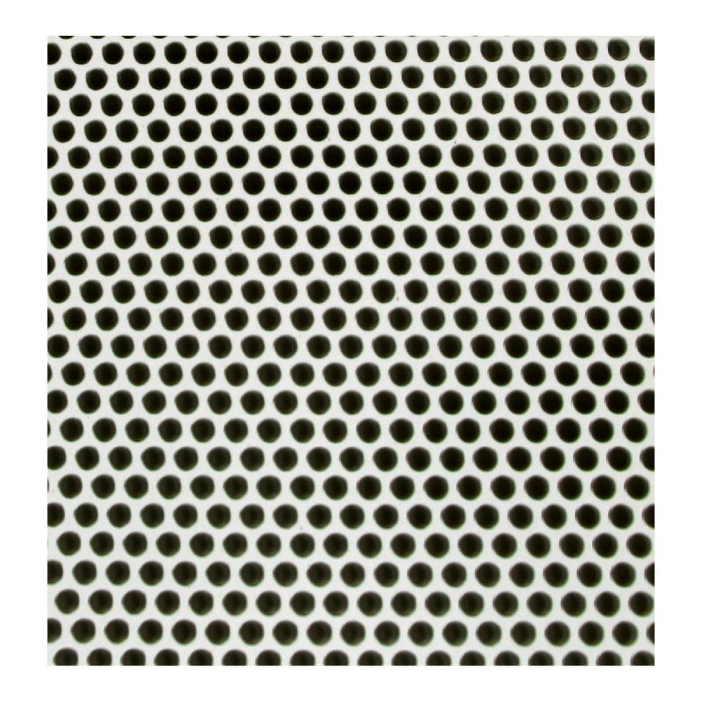 M-D Building Products 36 in. x 36 in. Small Hole Aluminum Sheet in White