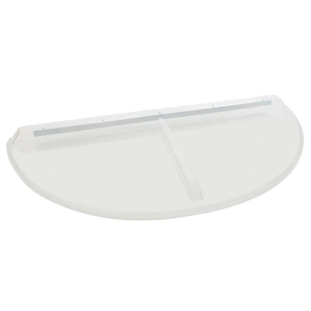 48 in. x 22 in. Polycarbonate Circular Window Well Cover