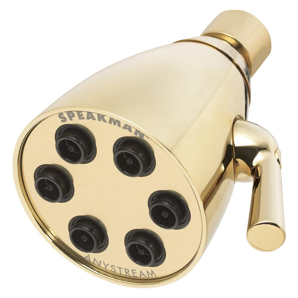 Speakman Anystream Icon 3-Spray 2.75 in. Signature Brass 2.0 GPM Fixed