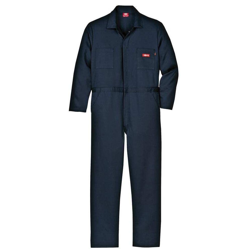 Men's XX-Large Navy Flame Resistant Long Sleeve Coverall
