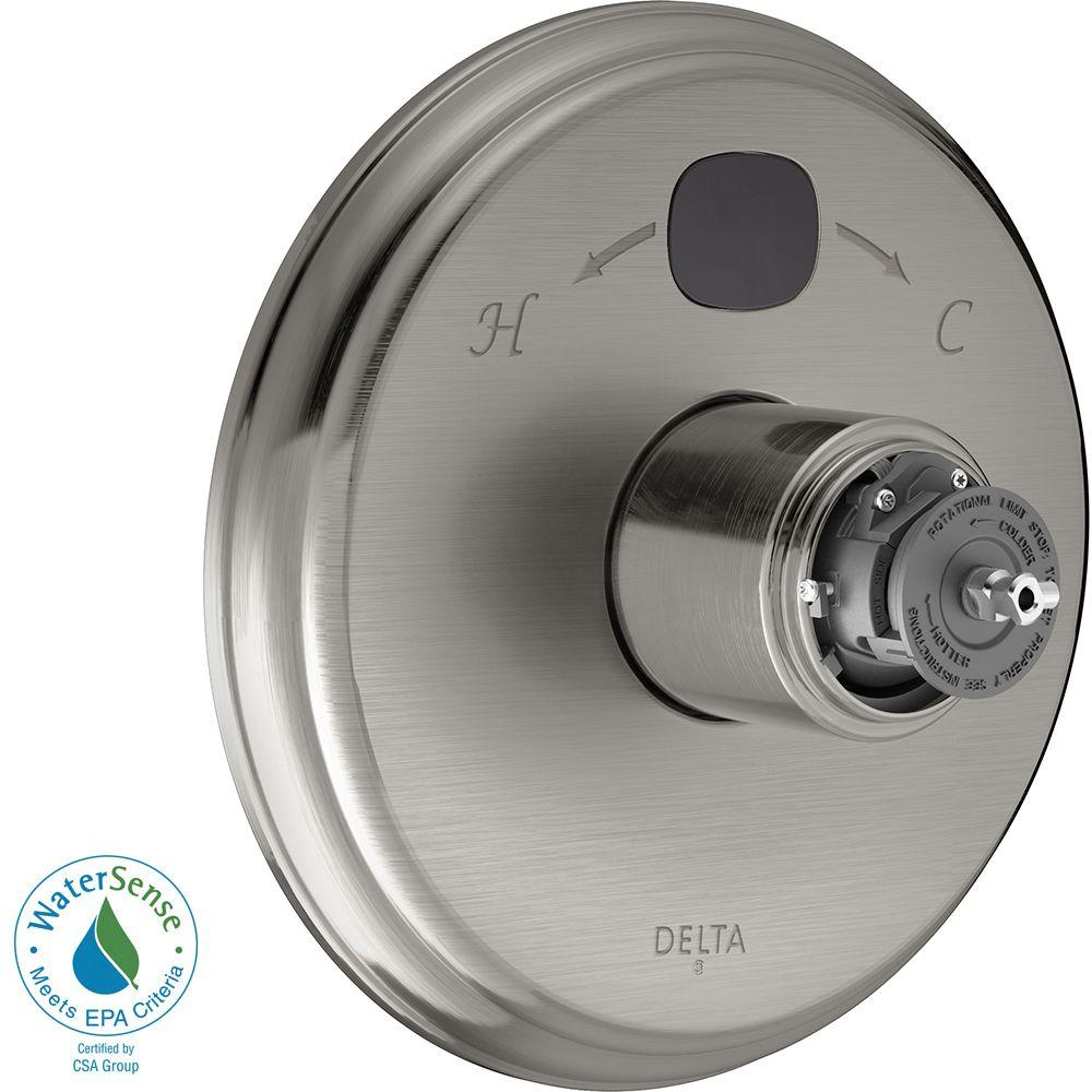 Delta Temp2O Traditional 1-Handle Valve Trim Kit in Stainless (Valve and Handles Not Included)