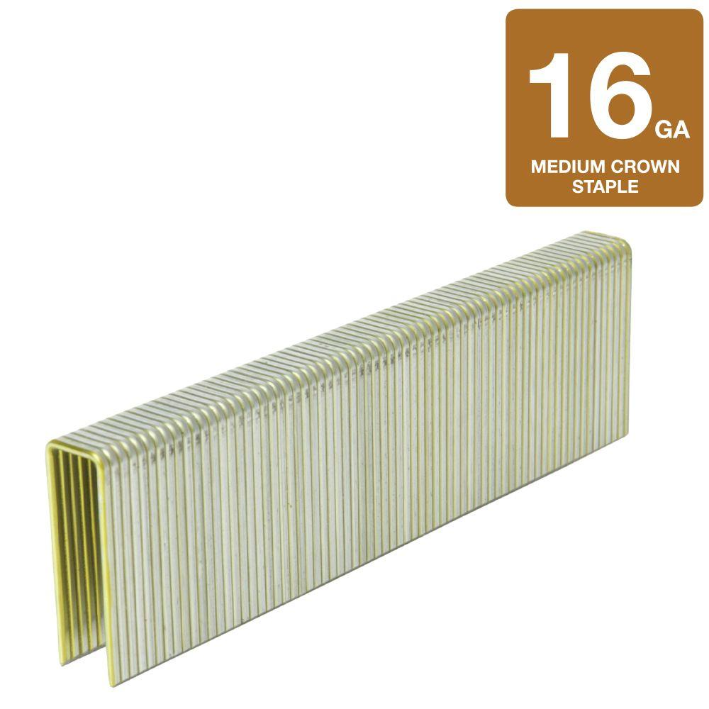 Hitachi 7/16 in. Crown x 1-1/2 in. L 16-Gauge Electro-Galvanized Construction Staples (10,000-Box)