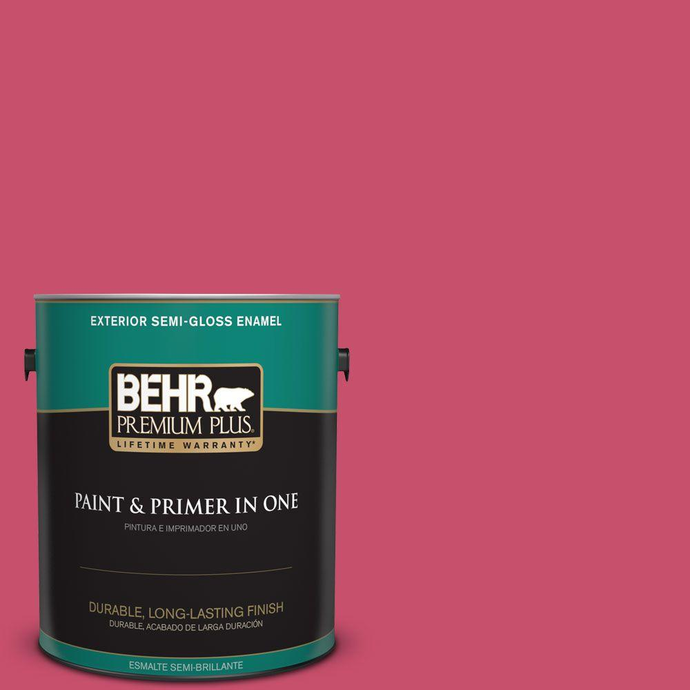 1-gal. #120B-7 Tropical Smoothie Semi-Gloss Enamel Exterior Paint