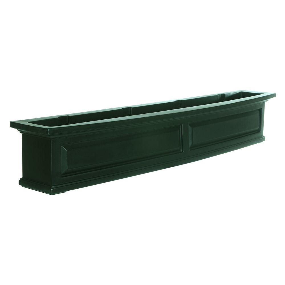 Nantucket 10 in. x 60 in. Green Polyethylene Window Box
