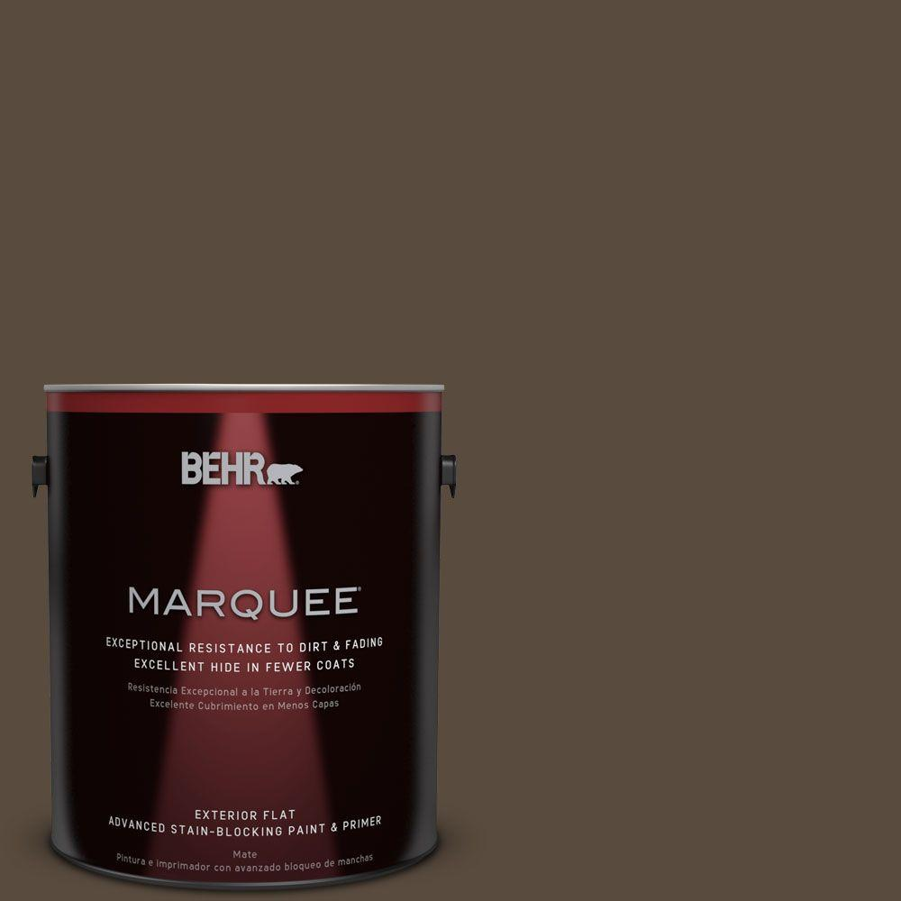 BEHR MARQUEE 1-gal. #S-H-710 Dried Leaf Flat Exterior Paint-445301 - The