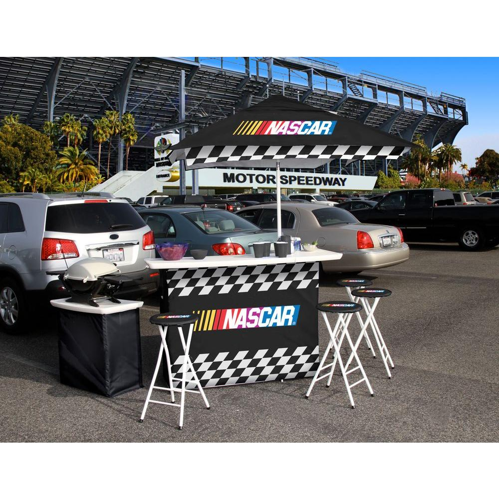 Best of Times NASCAR All-Weather Patio Bar Set with 6 ft. Umbrella-DISCONTINUED