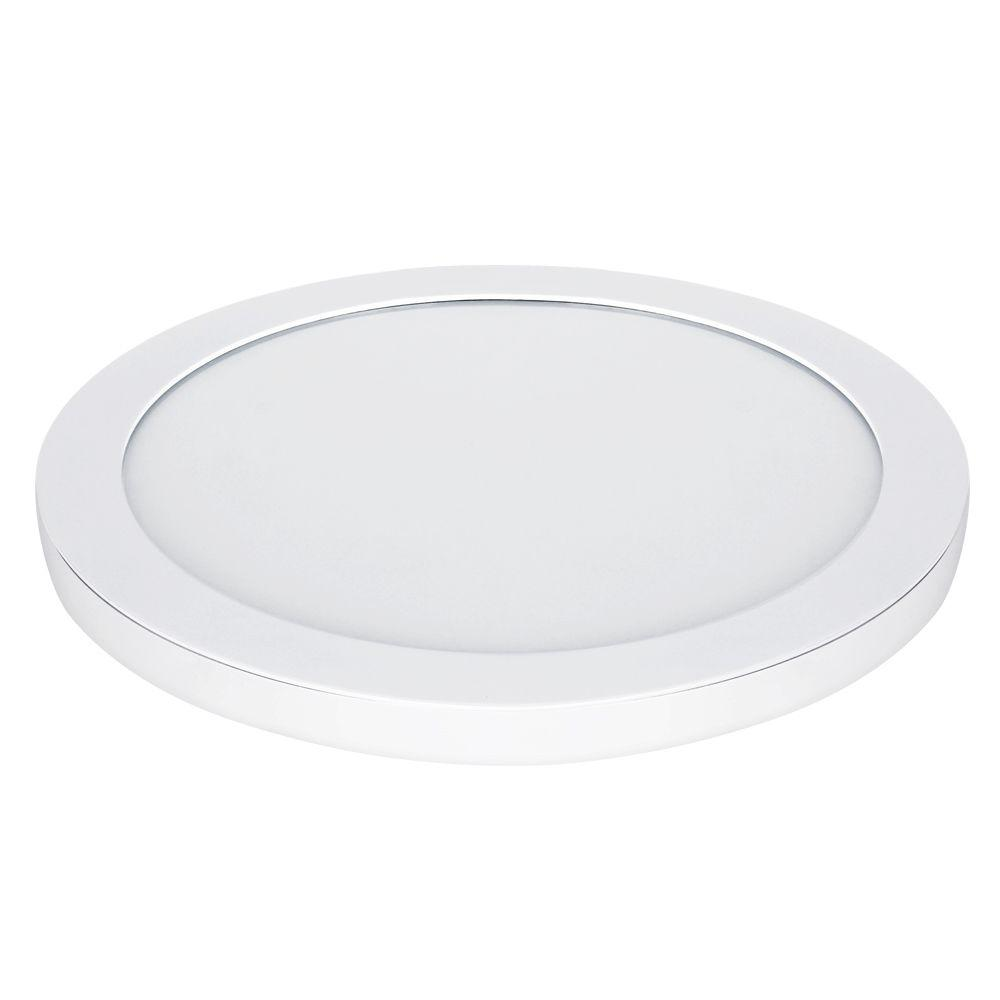 Commercial Electric 15 In White Led Edge Lit Flat Round