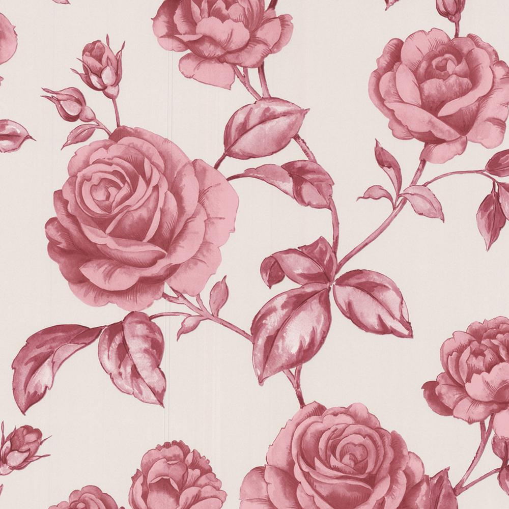 Graham & Brown 56 sq. ft. Pink Countess Wallpaper-50-179 - The