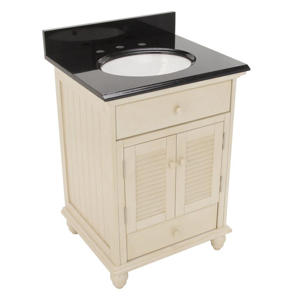 Cottage 25 in. W x 22 in. H Vanity in Antique