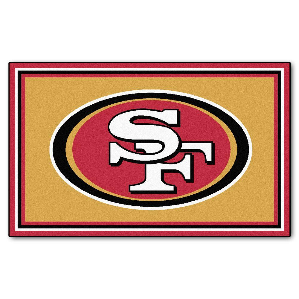 FANMATS San Francisco 49ers 4 ft. x 6 ft. Area Rug