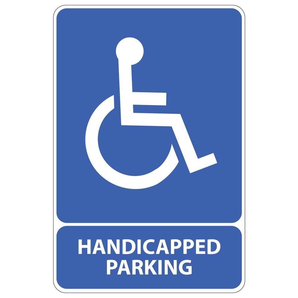 Rectangular Plastic Handicapped Parking Sign-PSE-0048 - The Home Depot