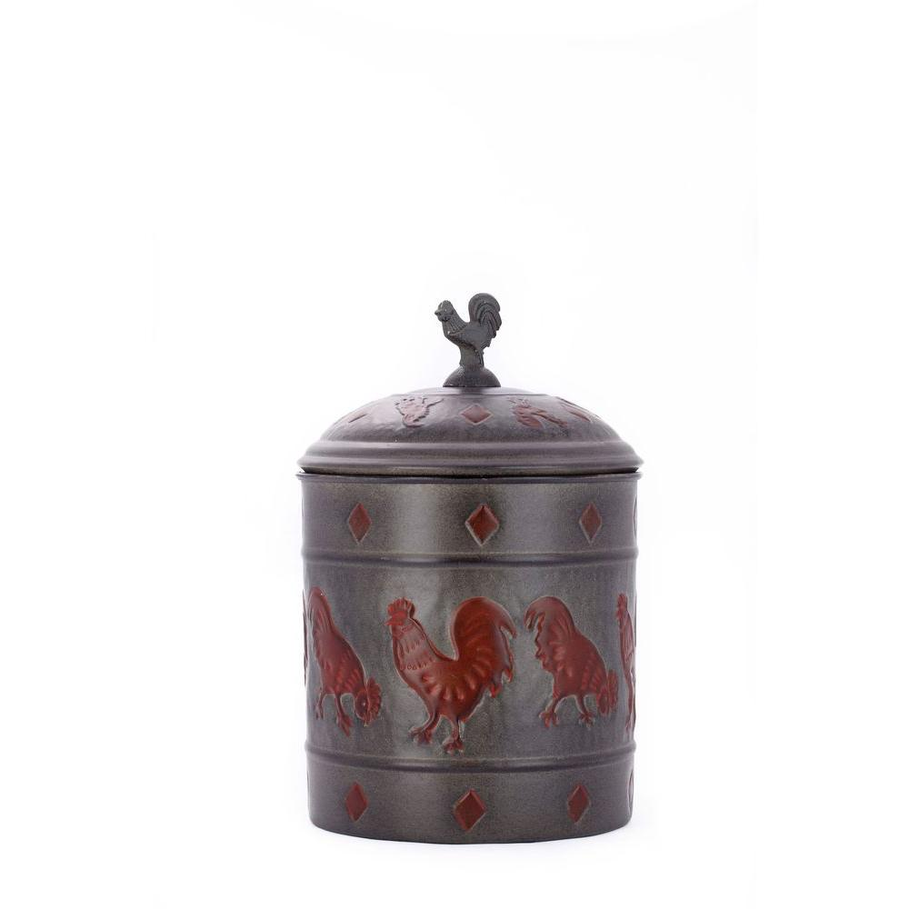 Old Dutch 7 in. x11 in. Rooster Cookie Jar with Fresh Seal Cover