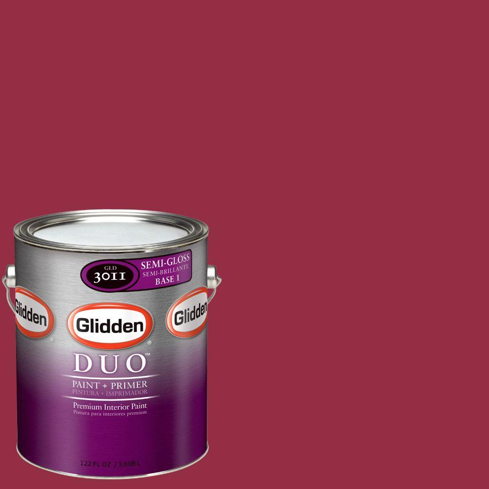 Glidden Team Colors 1-gal. #NFL-166C NFL Arizona Cardinals Red Semi-Gloss Interior Paint and Primer