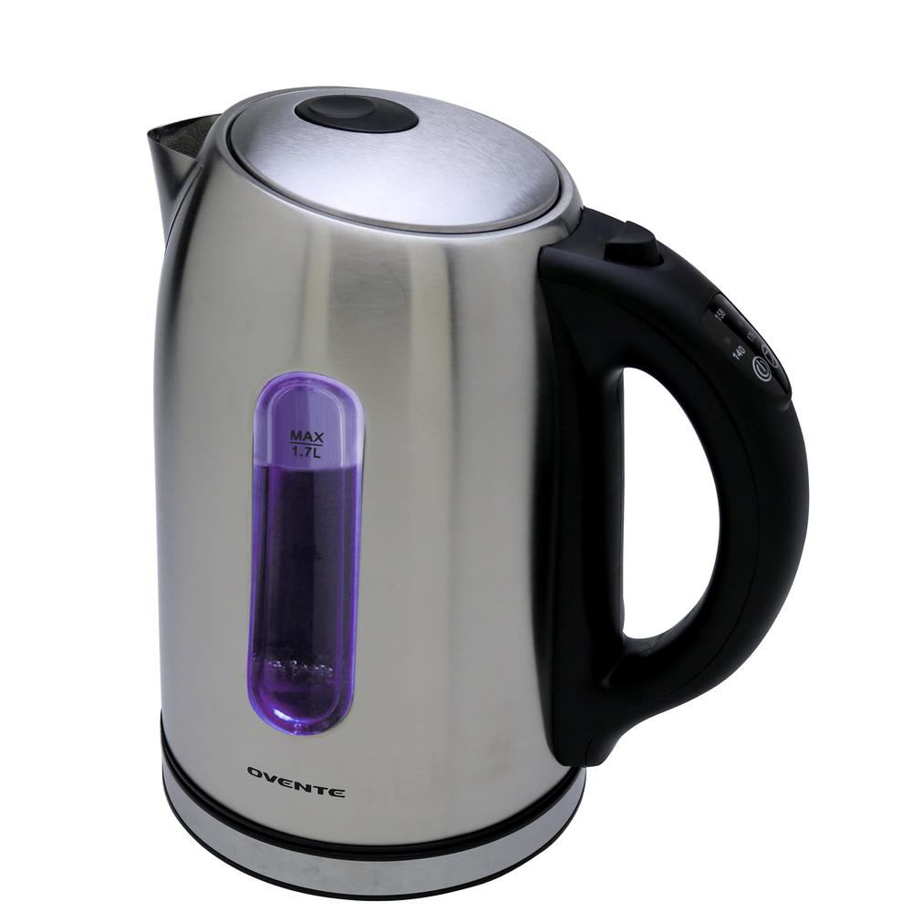 6.5-Cup Temperature Control Stainless Brushed Cordless Electric Kettle